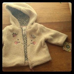 Girls 6M NWT 3 piece set - coat, onesie, leggings